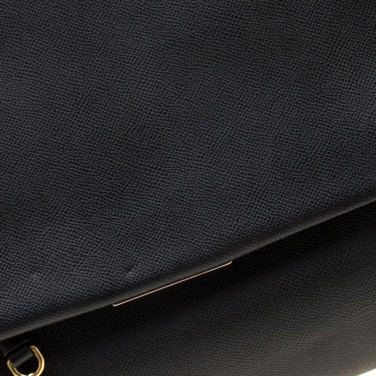 Dolce and Gabbana Black Leather Large Miss Sicily Tote For Sale 4