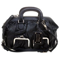 Dolce and Gabbana Black Leather Miss Curly Bag