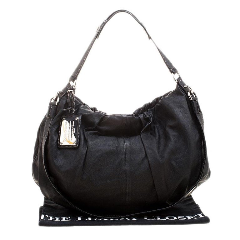 Dolce and Gabbana Black Leather Miss Night and Day Hobo For Sale 7