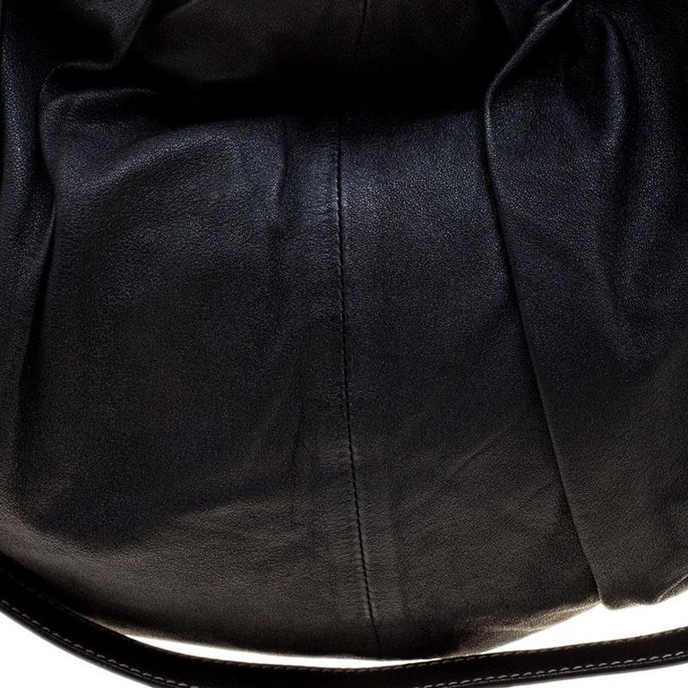 Dolce and Gabbana Black Leather Miss Night and Day Hobo For Sale 1