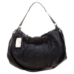 Dolce and Gabbana Black Leather Miss Night and Day Hobo
