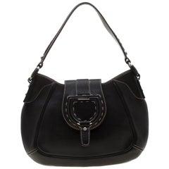 Dolce and Gabbana Black Leather Shoulder Bag