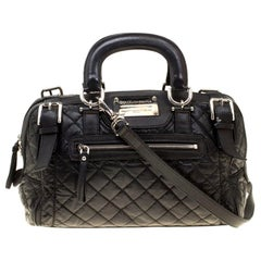 Dolce and Gabbana Black Nylon and Leather Miss Easy Way Top Handle Bag