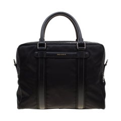 Dolce and Gabbana Black Nylon Mediterraneo Holdall Bag