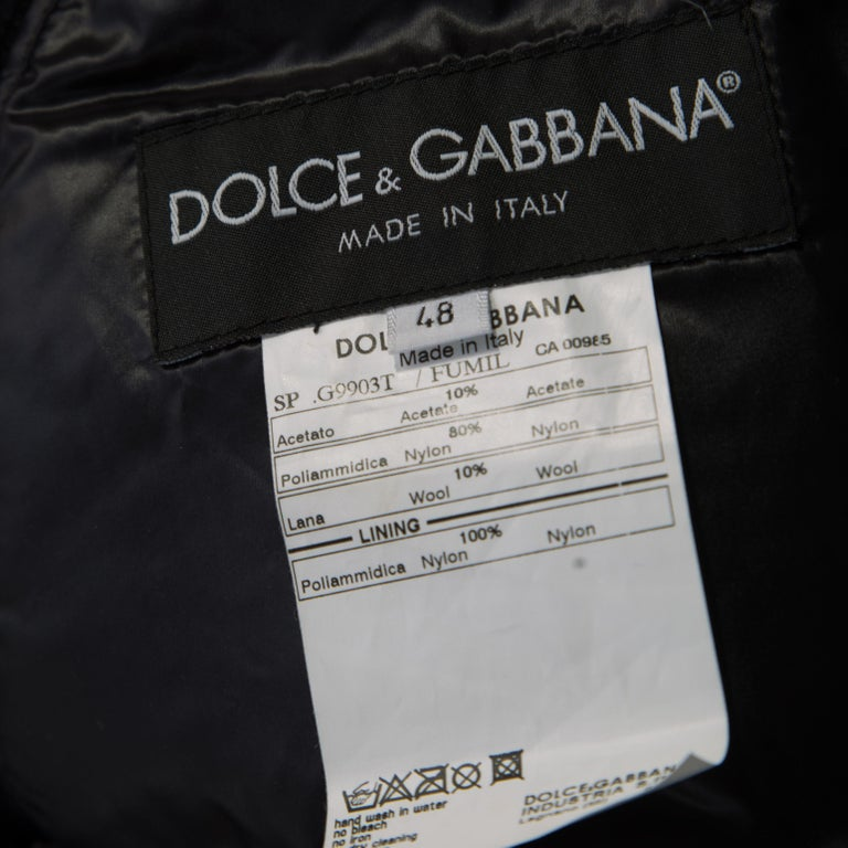 Women's Dolce and Gabbana Black Quilted Bomber Jacket M For Sale