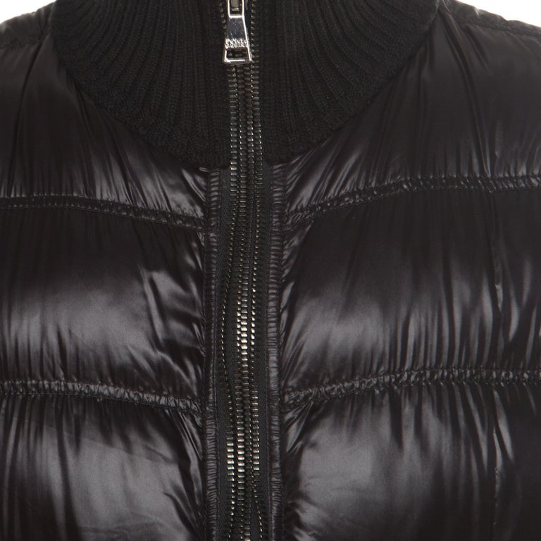 Dolce and Gabbana Black Quilted Bomber Jacket M For Sale 1