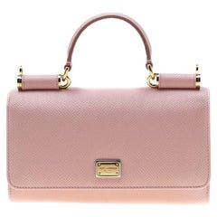 Dolce and Gabbana Blush Pink Leather Sicily Smartphone Von Bag
