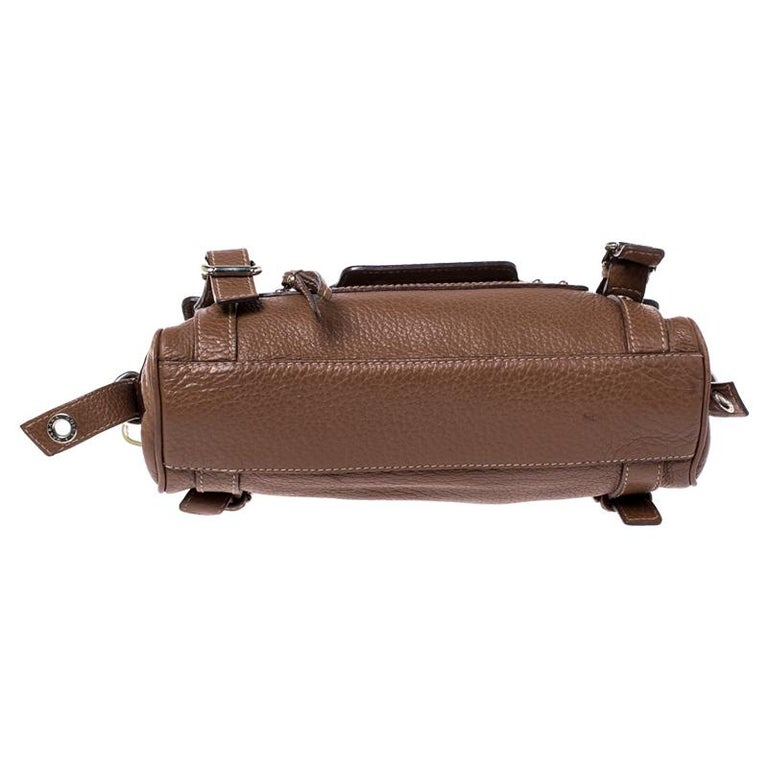 Dolce and Gabbana Brown Leather Easy Way Satchel For Sale 1