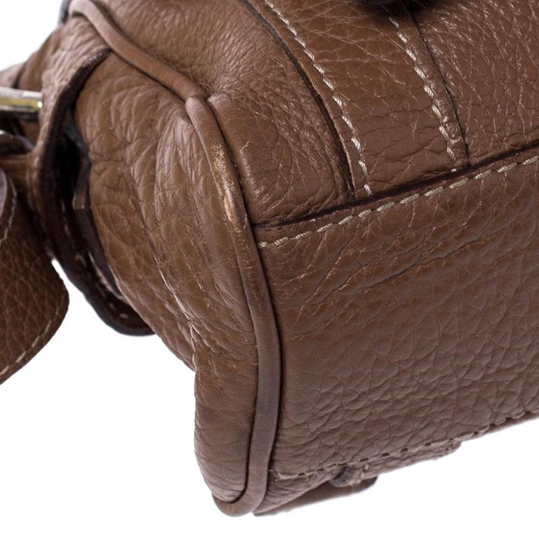 Dolce and Gabbana Brown Leather Easy Way Satchel For Sale 4