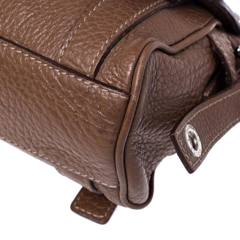 Dolce and Gabbana Brown Leather Easy Way Satchel For Sale 5
