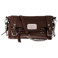 Dolce and Gabbana Brown Leather Easy Way Satchel