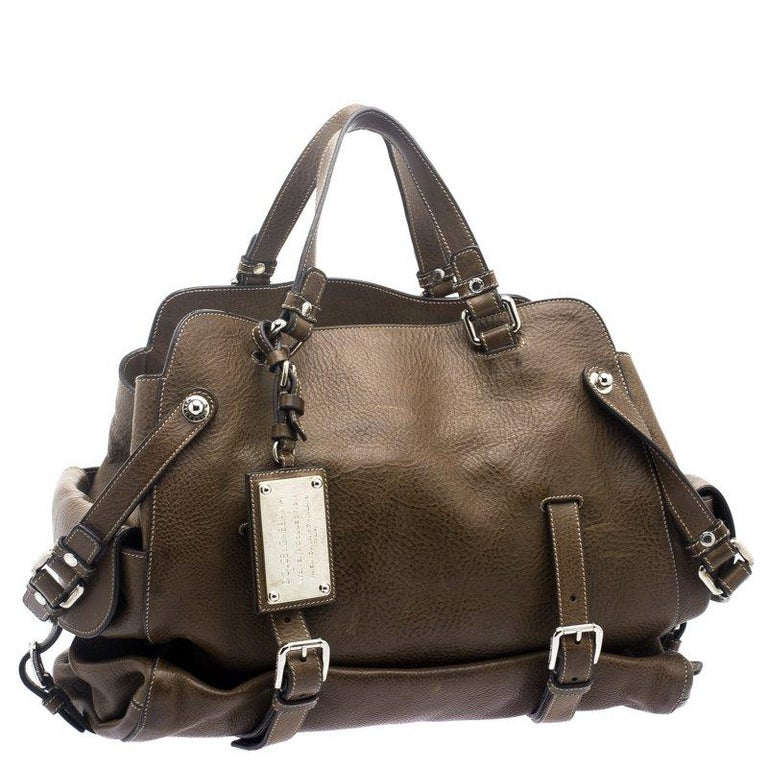 Women's Dolce and Gabbana Brown Leather Miss Forever Tote For Sale