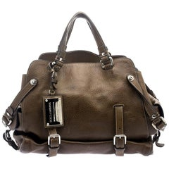 Dolce and Gabbana Brown Leather Miss Forever Tote