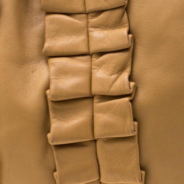 Dolce and Gabbana Brown Leather Miss Lexington Shoulder Bag 6