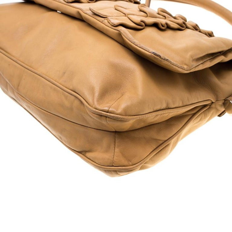 Dolce and Gabbana Brown Leather Miss Lexington Shoulder Bag 7