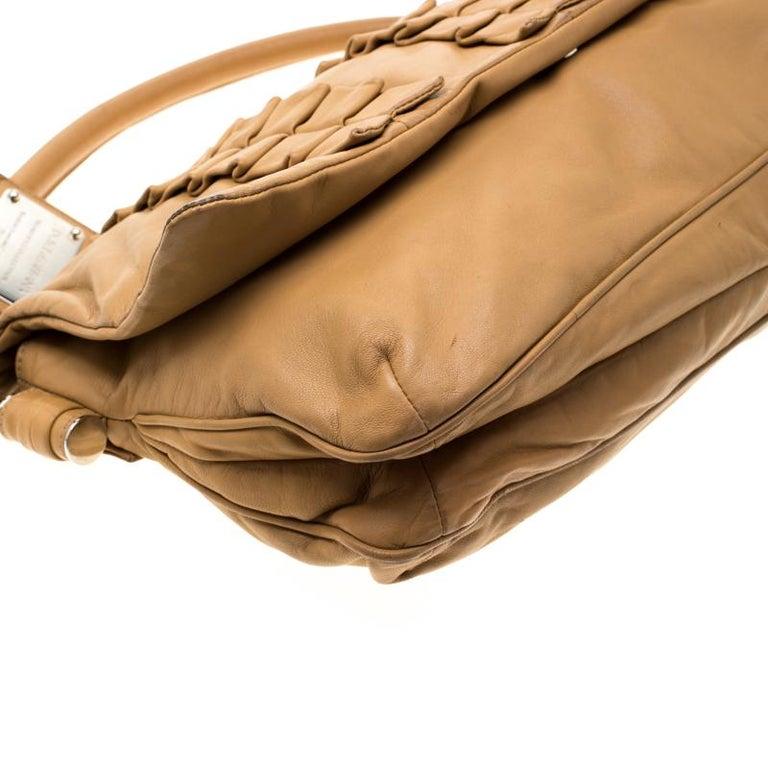 Dolce and Gabbana Brown Leather Miss Lexington Shoulder Bag 8