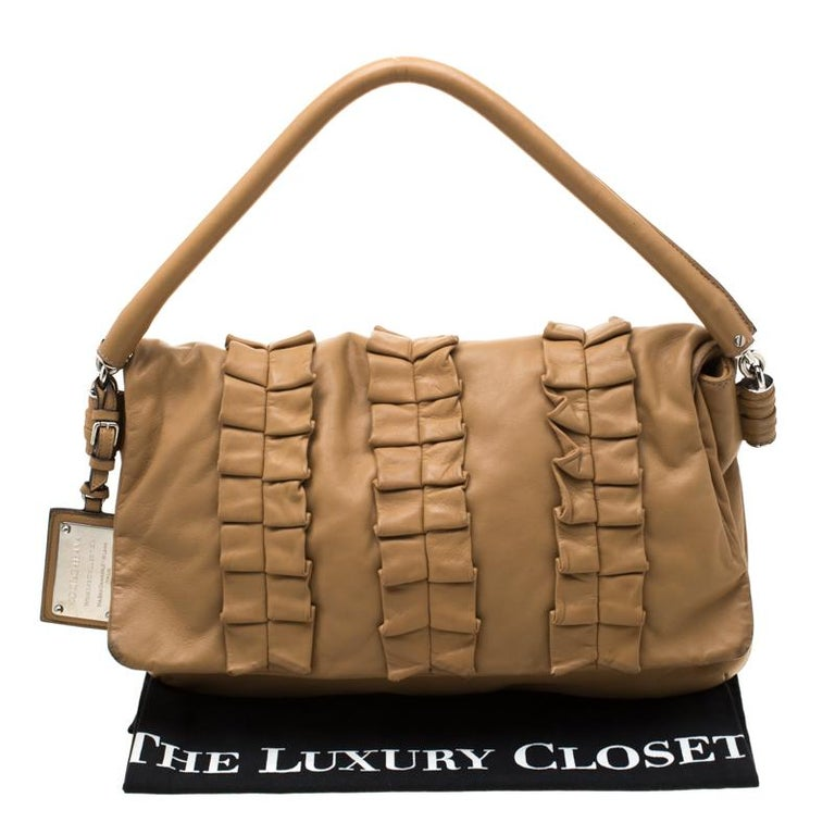 Dolce and Gabbana Brown Leather Miss Lexington Shoulder Bag 9