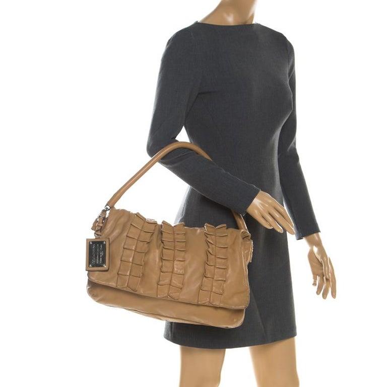 Dolce and Gabbana Brown Leather Miss Lexington Shoulder Bag In Good Condition In Dubai, Al Qouz 2
