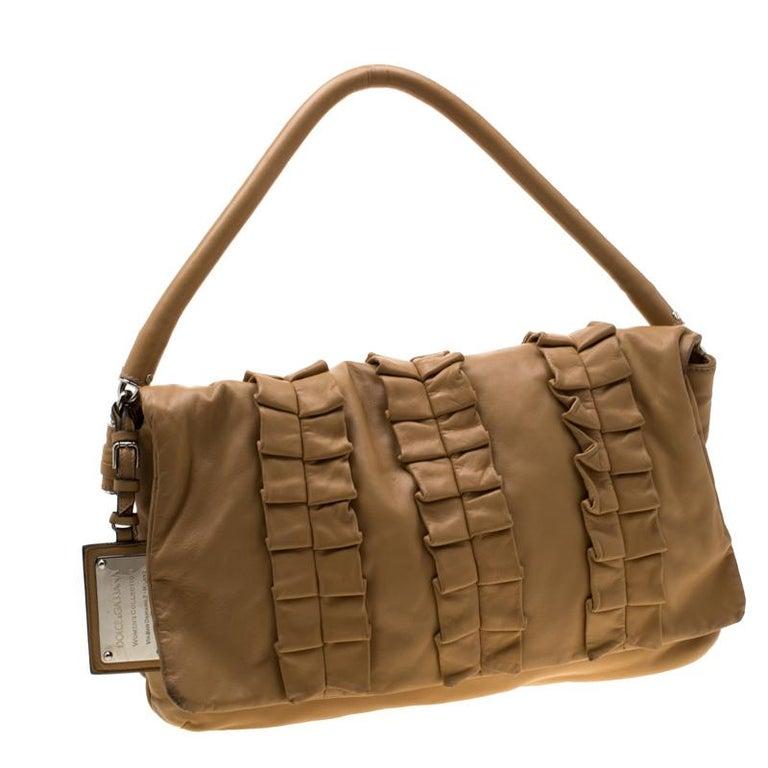 Women's Dolce and Gabbana Brown Leather Miss Lexington Shoulder Bag