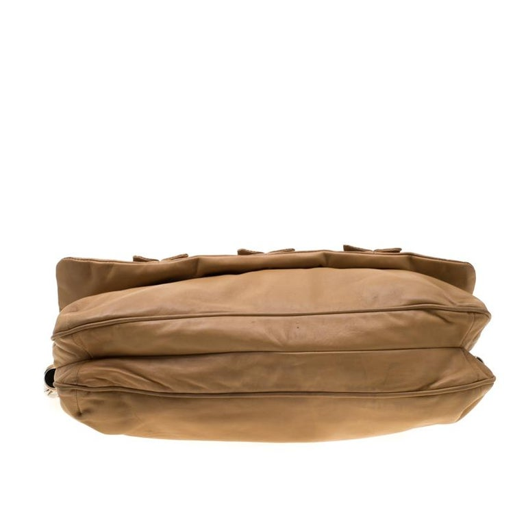 Dolce and Gabbana Brown Leather Miss Lexington Shoulder Bag 1