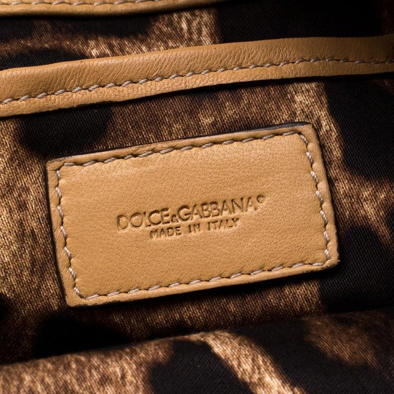 Dolce and Gabbana Brown Leather Miss Lexington Shoulder Bag 2