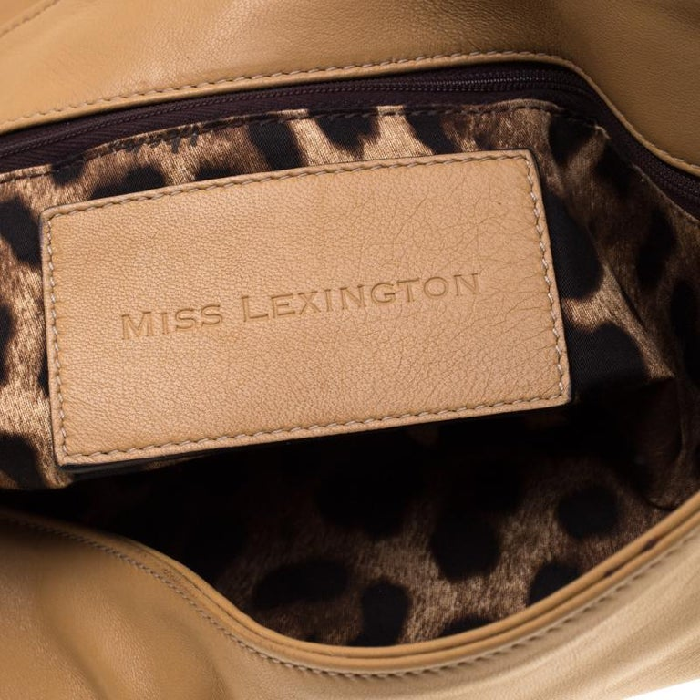 Dolce and Gabbana Brown Leather Miss Lexington Shoulder Bag 4