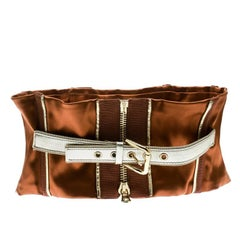 Dolce and Gabbana Caramel Brown Tie-Up Detail Corset Belt M