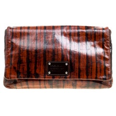 Dolce and Gabbana Copper Patent Leather Large Clutch