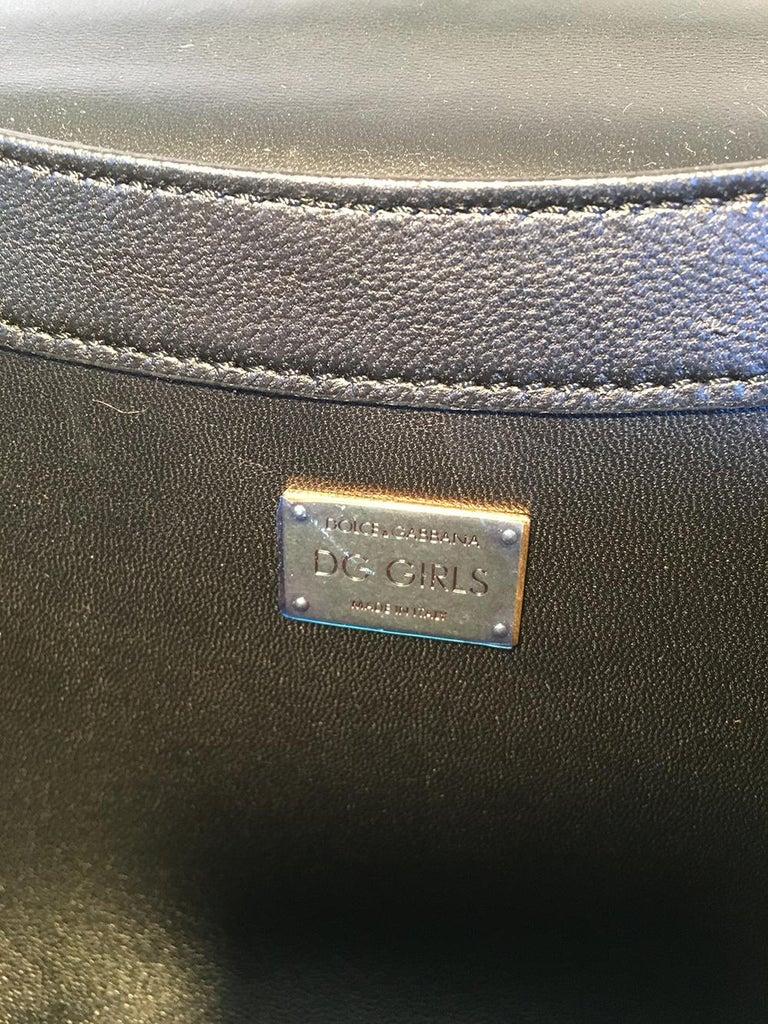 Dolce and Gabbana DG Girls Brocade Hearts Embellished Handbag For Sale 5