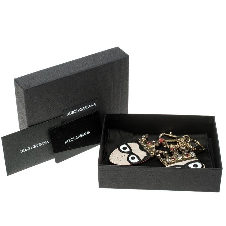 Dolce and Gabbana Face Charm of The Designers Keyring For Sale 2