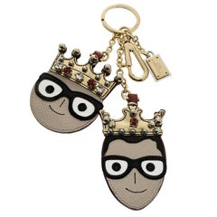 Dolce and Gabbana Face Charm of The Designers Keyring