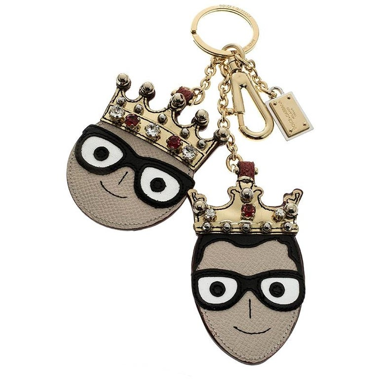 Dolce and Gabbana Face Charm of The Designers Keyring For Sale