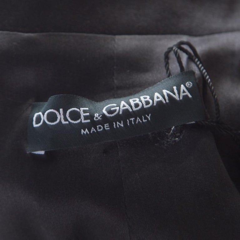Dolce and Gabbana Fuscia Pink Sequin Paillette Embellished Velvet Trim Blazer M For Sale 1