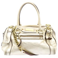 Dolce and Gabbana Gold Leather Miss Easy Way Boston Bag