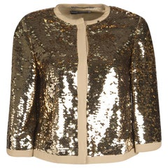 Dolce and Gabbana Gold Sequin Jacket S