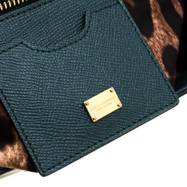 Dolce And Gabbana Green Dauphine Leather Large Miss Sicily Bag 2