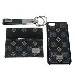 Dolce and Gabbana Grüne Gift Box Set (Card Holder, iPhone 5 Case und Key Holder)