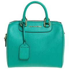 Dolce and Gabbana Green Leather Boston Bag