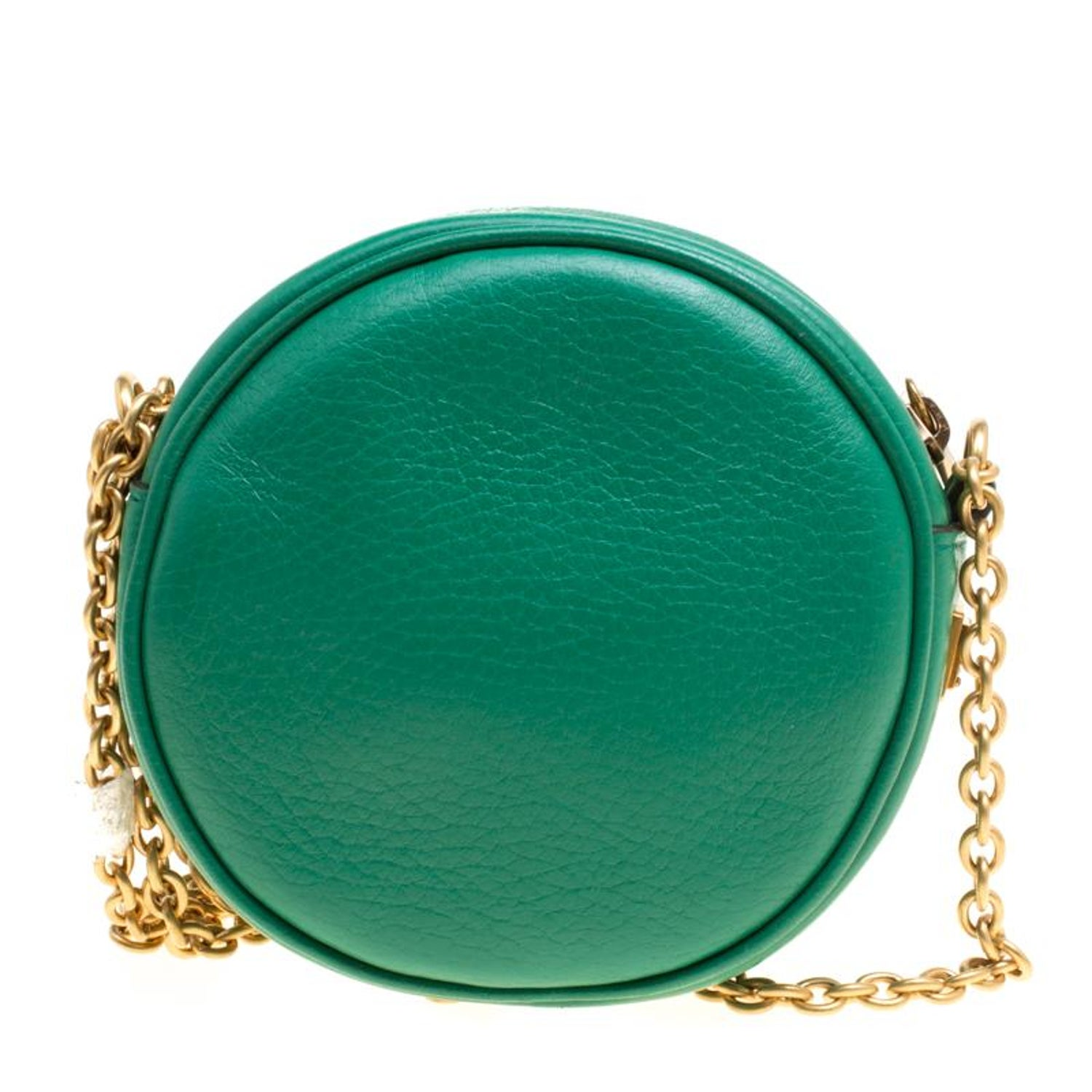 Dolce and Gabbana Green Leather Small Charm Miss Glam Crossbody Bag at  1stdibs 544599c7db831