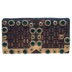 Dolce and Gabbana Iridescent DG Rhinestone Clutch