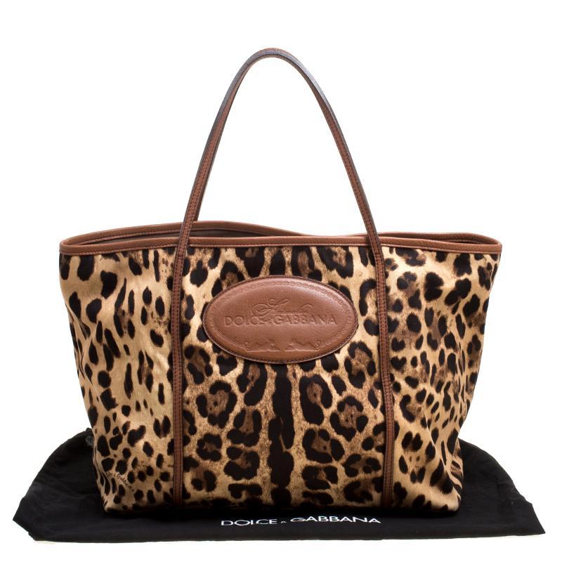 Dolce and Gabbana Leopard Print Fabric Animalier Shopper Tote at 1stdibs ef39f91b49