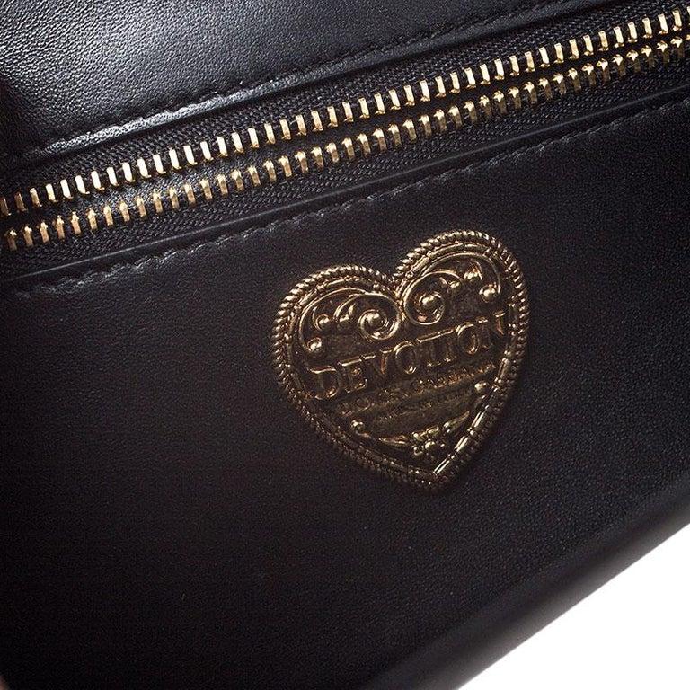 Dolce and Gabbana Metallic Silver Leather Medium Devotion Mordore Shoulder Bag 4