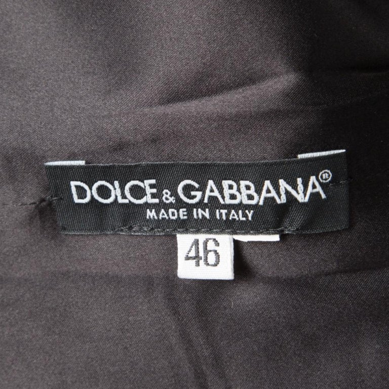 Women's Dolce and Gabbana Monchrome Flock Animal Print Layered Sleeveless Dress L For Sale