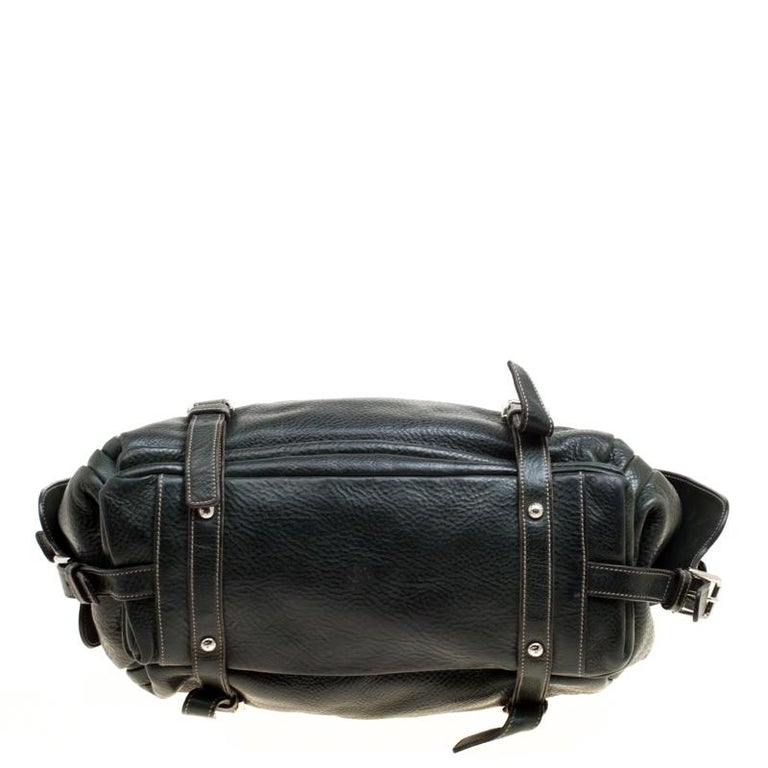 Dolce and Gabbana Mossy Green Leather Miss Forever Hobo For Sale 1