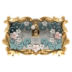 Dolce and Gabbana Multicolor Acrylic Mirrored Baroque Dolce Box Bag