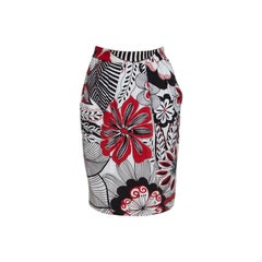 Dolce and Gabbana Multicolor Floral Printed Cotton High Waist Skirt S