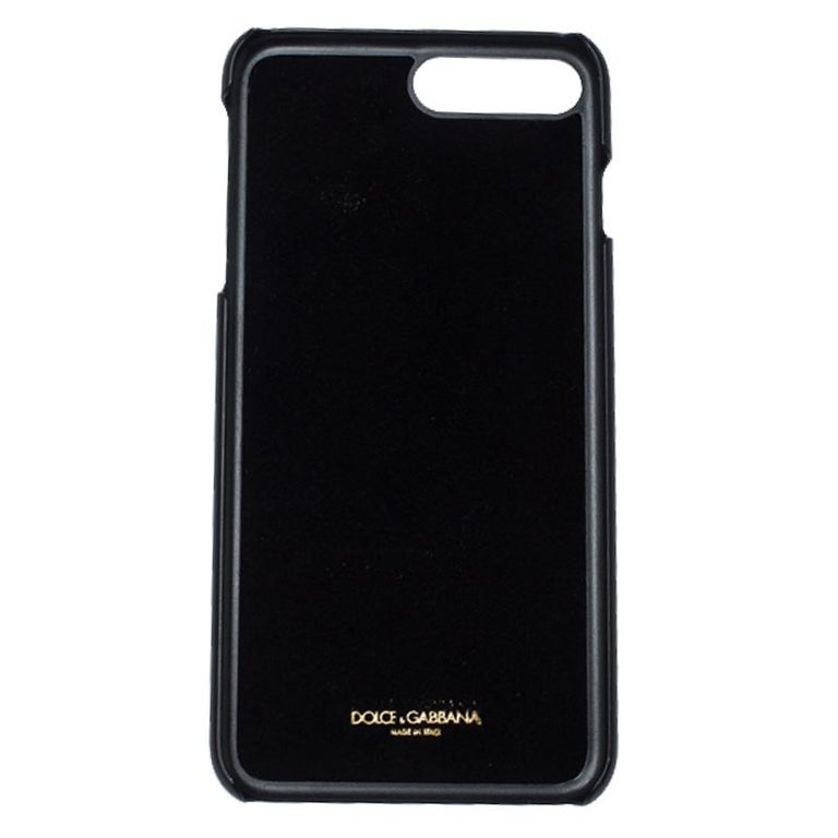 Women's Dolce and Gabbana Multicolor Jewel Embellished Leather iPhone Cover For Sale