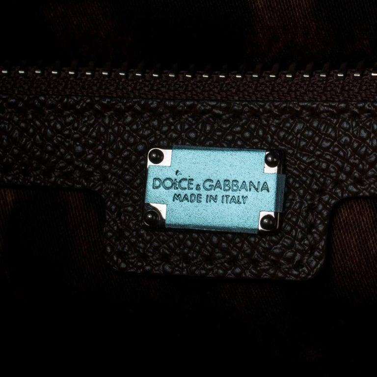 Dolce and Gabbana Multicolor Leather Mandolino Shoulder Bag For Sale 1