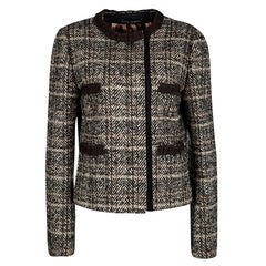 Dolce and Gabbana Multicolor Wool Herringbone Pattern Jacket M