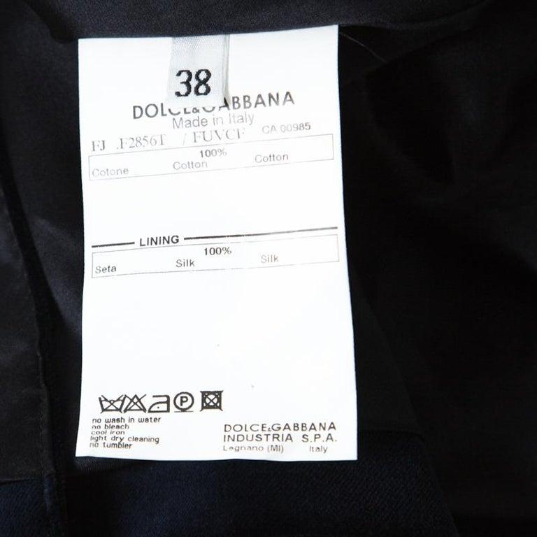 Dolce and Gabbana Navy Blue Velvet Notch Lapel Blazer S For Sale 3